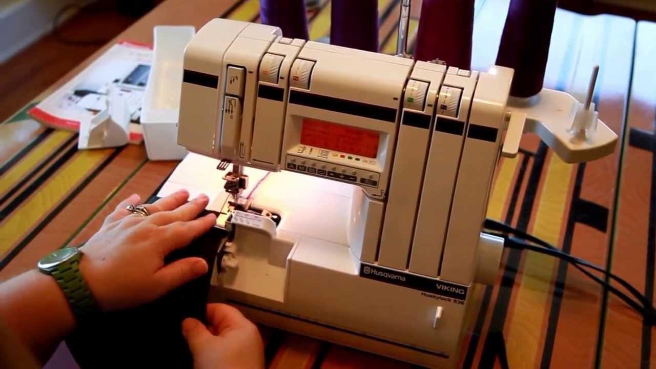 viking 936 serger 4 thread overlock demonstration husqvarna sewing rh youtube com Threading Serger Huskylock Viking Huskylock