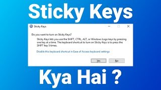 what Is Sticky Keys (HINDI)  InfoHoop