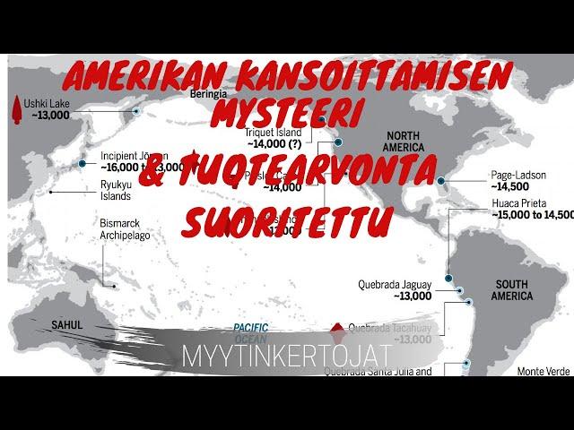 Amerikan kansoittamisen mysteeri & Tuotearvonta suoritettu