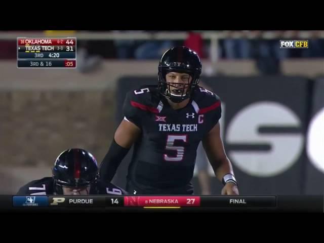 Oklahoma At Texas Tech 2016 Big 12 Football Highlights Youtube