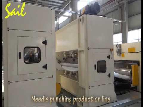 Nonwoven blanket/carpet fabric needle punching production line