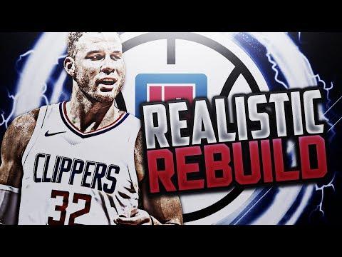 2 BIG TRADES!?! CLIPPERS REALISTIC REBUILD! NBA 2K18