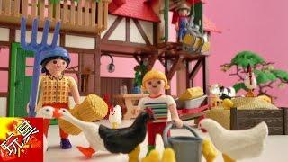 Playmobil 摩比 游戏 6120 欢乐 乡村 系列  欧式 农场 玩具组 套装 组装 安装 展示