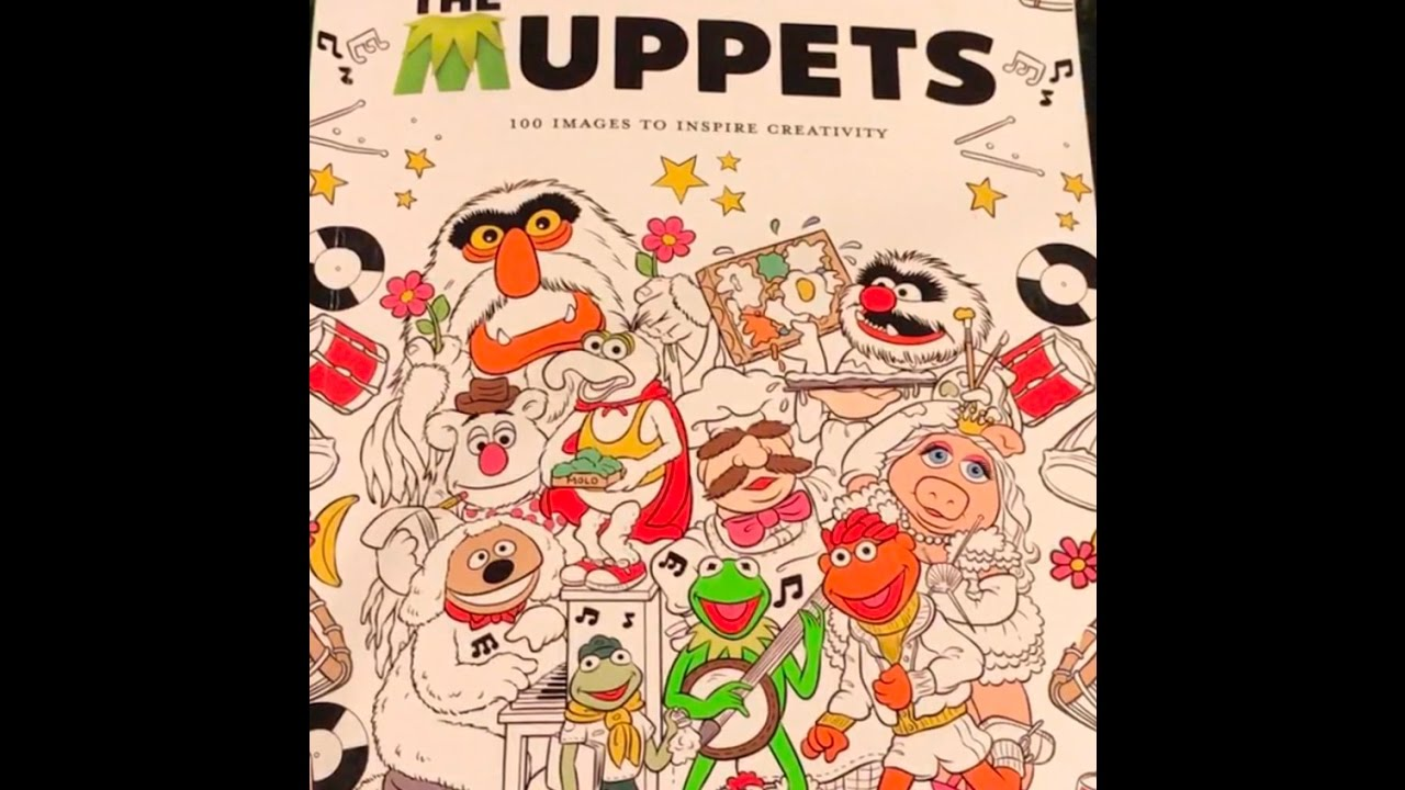 Muppets Coloring Book Flip Through  May 5 2017  YouTube