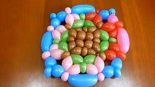 Плоские фигуры из воздушных шаров для моделирования (ШДМ)(Упражнение для повышения мастерства работы с ШДМ (часть 3). Способы связывания воздушных шаров (ШДМ) в фигуры..., 2012-03-31T10:38:26.000Z)