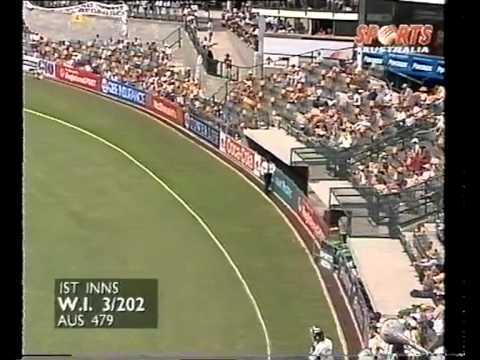 Carl Hooper 102 vs Australia 1st test 1996/97
