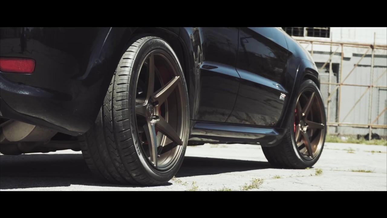 "Black Grand Cherokee >> JEEP SRT8 | VELGEN WHEELS CLASSIC5 BRONZE | 22"" - YouTube"