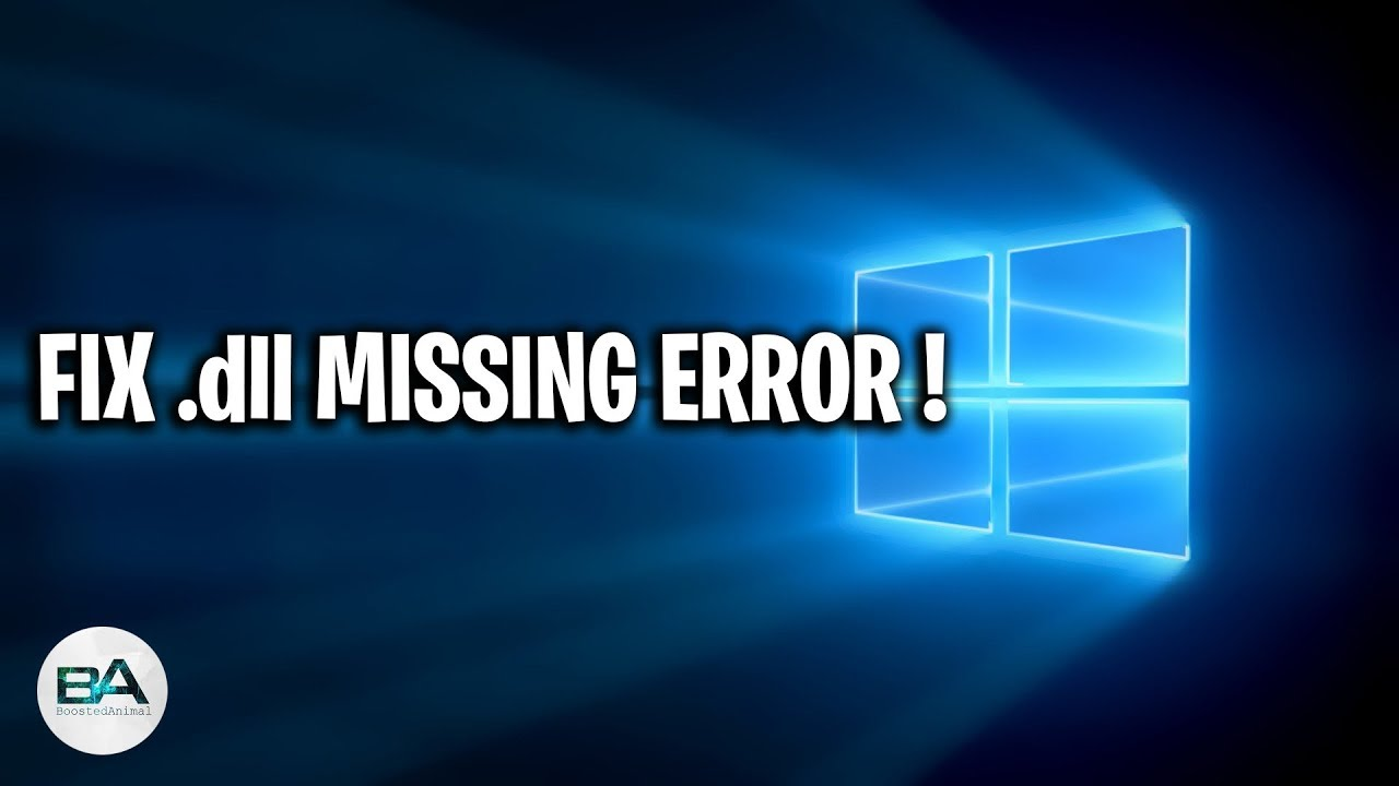 How to fix missing dll files errors on windows 10/8/7 pc.