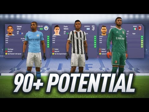 FIFA 18 CAREER MODE - ALL PLAYERS WITH 90+ POTENTIAL!!!