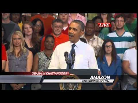Video and Verbatim of President Obama's Speech at Amazon