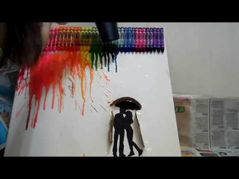 DIY: (do it yourself) Crayon Art/ Painting
