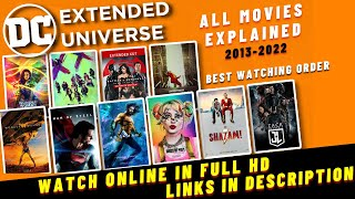 How To Start Watching DC movies | DC Movies List | DCEU movies in Correct Order in Hindi | 2021-2022