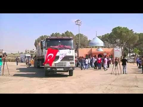 First truck of humanitarian aid from Turkey reaches Gaza