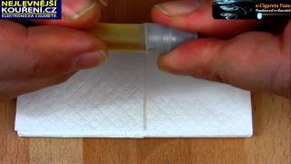 Smokymizer - protékání při plnění