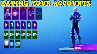 RATING FORTNITE FAN ACCOUNTS! (Fortnite Stacked Accounts!)