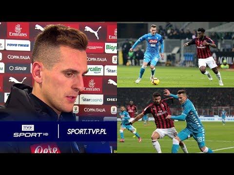 Arkadiusz Milik po meczu AC Milan – Napoli: jestem rozczarowany, porażka boli