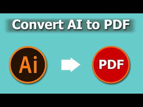 How to Convert Illustrator AI to PDF Document using Adobe Illustrator CC