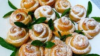 ТВОРОЖНЫЕ #РОЗОЧКИ Вкусное Домашнее Печенье к Чаю #Рецепт