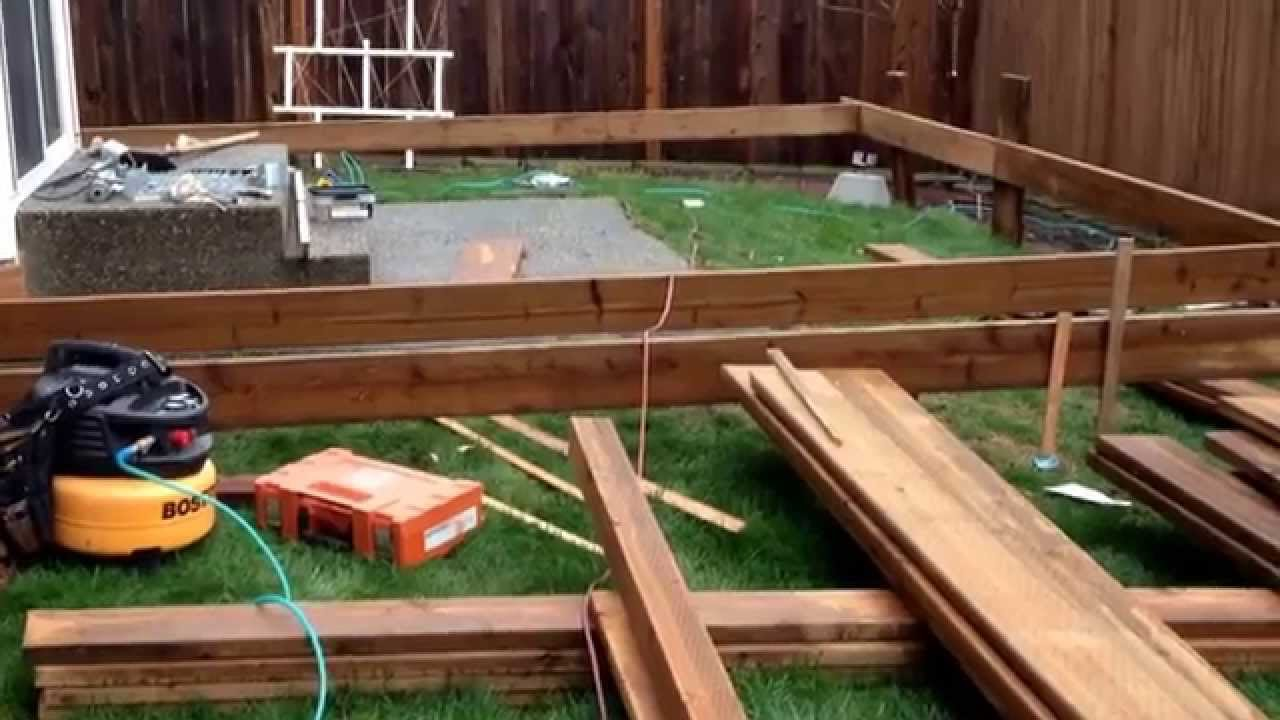 Build A Floating Wood Patio Deck