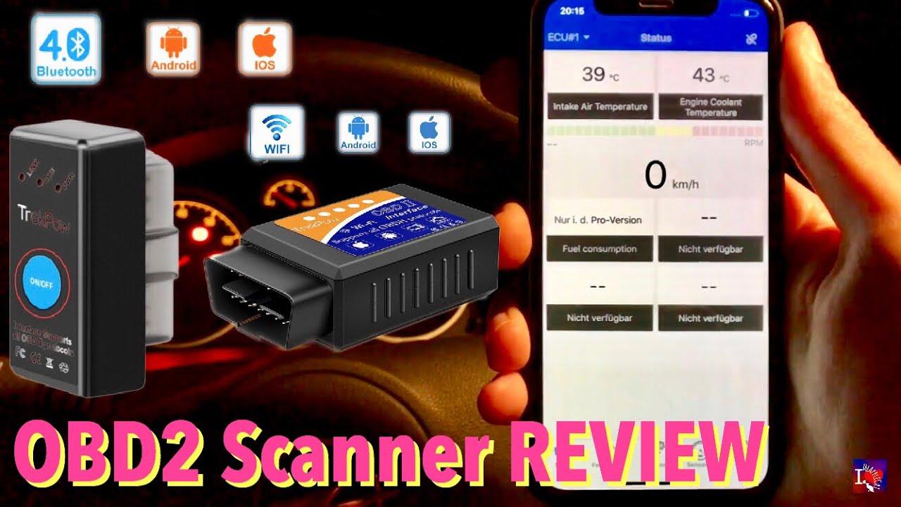 KFZ Fehlersuche mit OBD2 Scanner - WiFi & Bluetooth, iOS & Android - Review  Test TrekPow