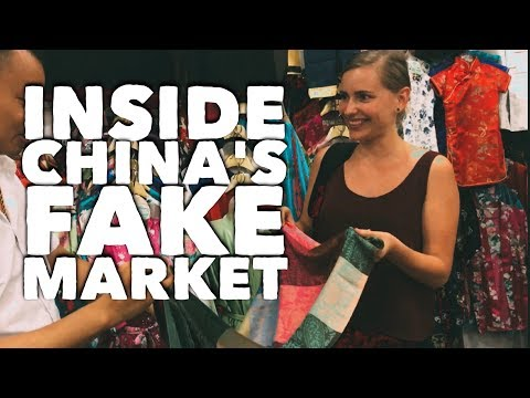 ANNOYING SHOPPERS at Beijing's fake market