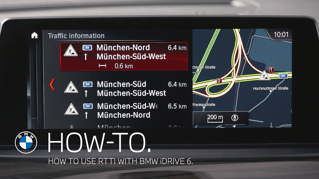 How to use RTTI in your BMW with iDrive 6 – BMW How-To