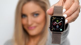 gold Apple Watch Series 4 - Unboxing and review!