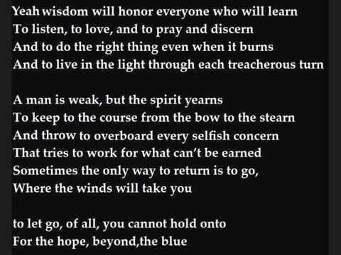 Beyond the Blue w/lyrics by Josh Garrels