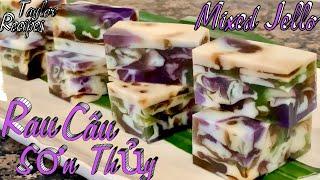 Cách làm rau câu sơn thuỷ thơm ngon màu đẹp và rất giòn - Mixed Jello Recipe - Cuộc Sống Mỹ