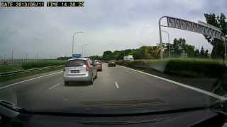 Taxi Driver caught speeding by Singapore Traffic Police
