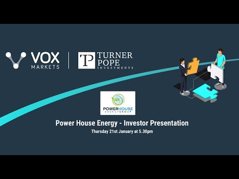 Powerhouse Energy Investor Webinar with Q&A