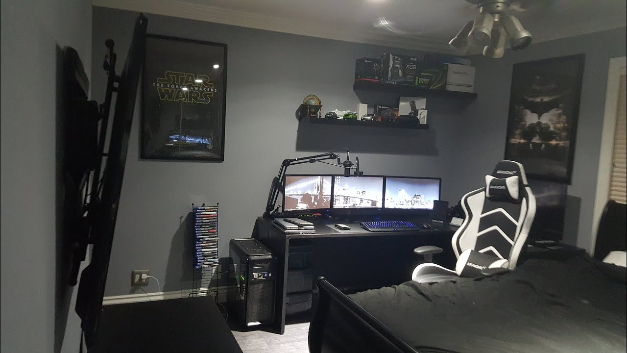 "captivating bedroom gaming room setup | ""NEW LOOK"" - My Ultimate Gaming Setup (September 2015 ..."
