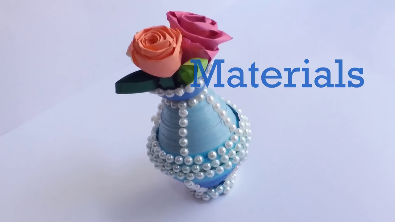 How To Make Paper Quilling Flowerpot Do It Yourself Youtube