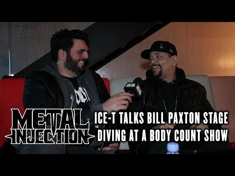 ICE-T Talks Bill Paxton Stage Diving At BODY COUNT Show | Metal Injection