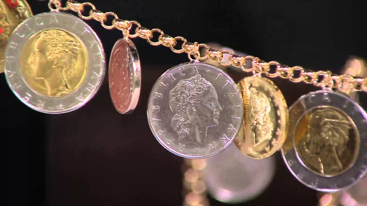 Vicenza Gold Lire Coin Charm Bracelet 14k On Qvc