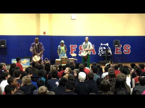 Manga African Dance performs at Fulton Sunshine Academy in observance of Black History Month