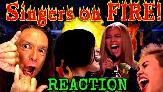 Vocal Coach Reacts To Famous Singers' FULL Power Vocals When They're on FIRE! Ken Tamplin