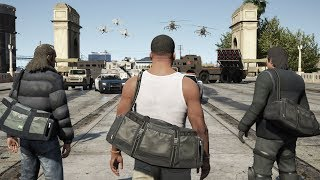 GTA 5 - 750 STAR WANTED LEVEL!! (Can We Escape)