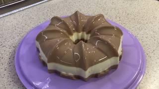 Торт желе, сметанный торт, сметанное желе, вкусный десерт!