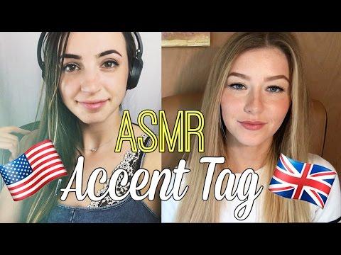 ASMR Accent Tag - American (Gibi) vs. British (InnocentWhispers ASMR)