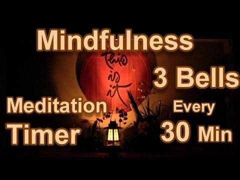 Mindfulness Bell Sound: Meditation Timer Meditate 3 bells every 30 minutes for 8 Hours