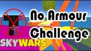 SKYWARS NO ARMOUR CHALLENGE!!   Roblox Skywars