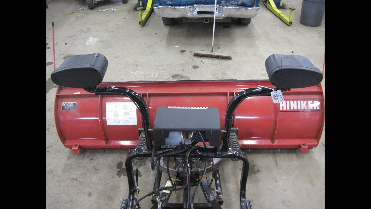 Up122 2852 Hiniker 8 5 U0026 39  Steel Snow Plow Works Perfect  Qh1