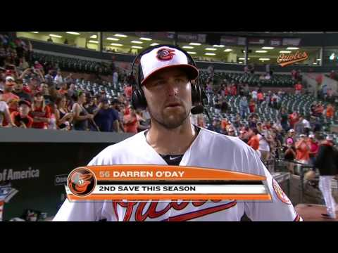 Darren O'Day talks about the Orioles' win over the Red Sox