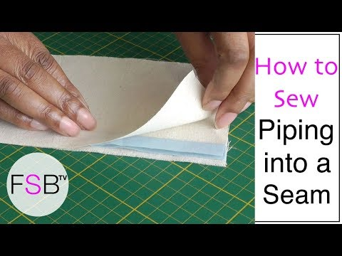 Sewing Piping into a Seam
