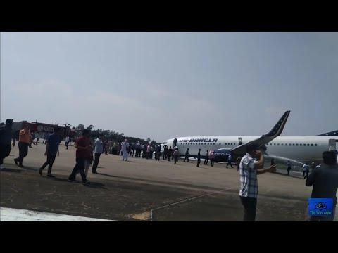 US Bangla crashed at Chittagong Shah Amanat Intl Airport.