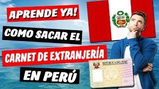 Como estar Legal en Perú 👉(Haz Esto!) | Carnet de Extranjería 2018