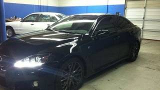 BLACKED OUT 2011 Lexus ISF  - Windows Tinted - Tint 2k