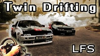 Twin Drifting Session - (online multiplayer, Live for Speed v0.6F Racing Simulator) t500rs th8rs
