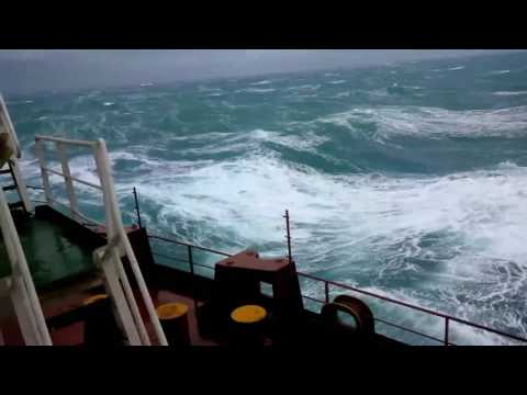 Storm in Pacific ocean    beautiful raff waves in the sea